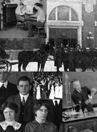 Campus history collage